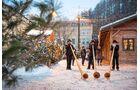 Alphornbläser auf dem Weihnachtsmarkt von Bruneck