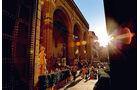 Bewegte Geschichte auf der Palazzo Vecchio.
