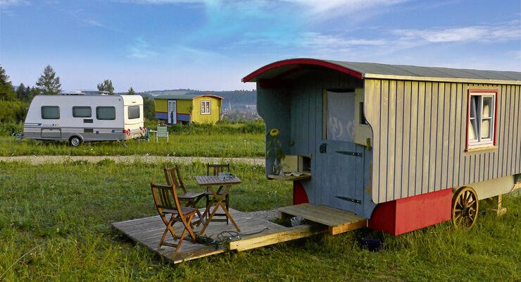 Campingplatz-Tipps: Hopfenburg bei Münsingen auf der Schwäbischen Alb