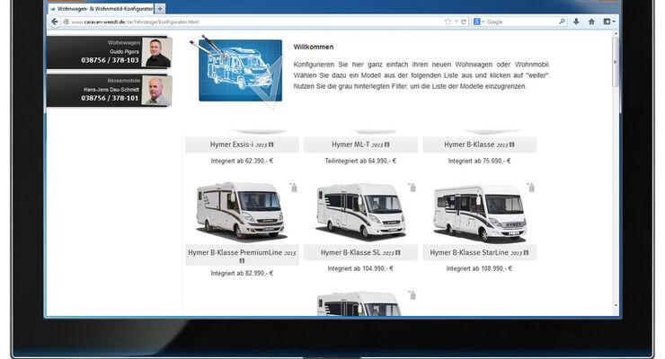 Caravan-Wendt hat seinen Konfigurator für Freizeitfahrzeuge auf der Homepage überarbeitet und verbessert. Nun können Interessierte ihr Wohnmobil oder  Wohnwagen von Zuhause aus konfigurieren.