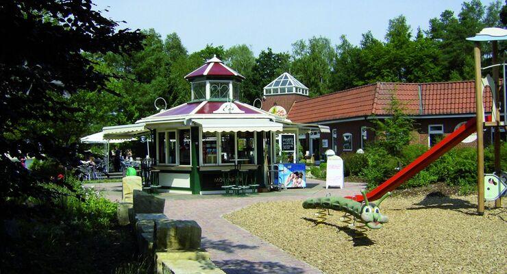 Das Südsee-Camp Wietzendorf hat kürzlich einen Eispavillon und direkt daneben einen kleinen Spielplatz eröffnet.