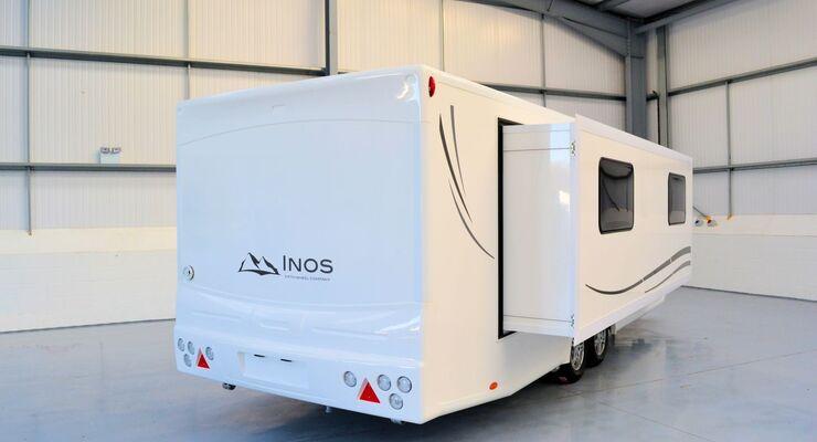Die Firma Roka-Werk übernimmt den Vertrieb der Inos Slide-Out Caravans. Die Wohnwagen besitzen einen elektrischen Slide-Out.