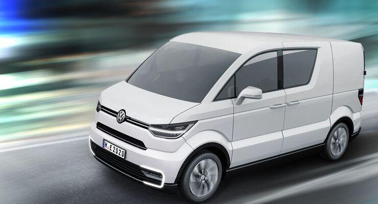 Ein elektrisch angetriebener Stadtlieferwagen könnte in Zukunft emissionsfrei den Transport übernehmen.