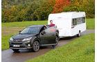 Kompakter Caravan mit Vollausstattung ohne Platzprobleme.