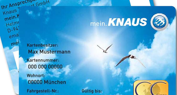 Kunden der Marke Knaus aus Deutschland, Österreich, der Schweiz und den Niederlanden erhalten eine Kundenkarte