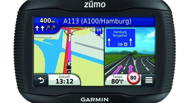 Mit dem Zumo 350LM baut Garmin seine Navigations-Serie weiter aus – inklusive lebenslangem Kartenupdate.