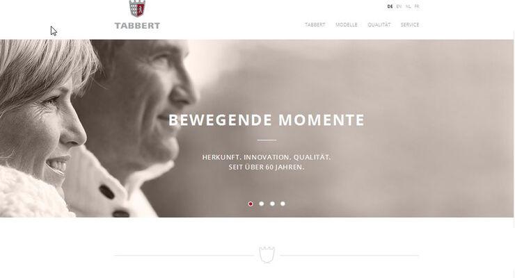 Neue Homepage Tabbert