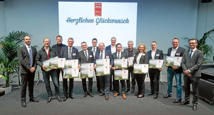 """Preisverleihung """"Reisemobile und Caravans des Jahres 2016"""""""