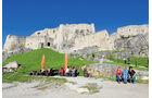 Treffpunkt vor der Zipser Burg