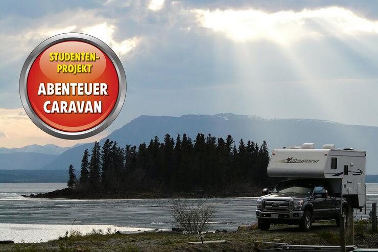 Truck Camper vor Insel