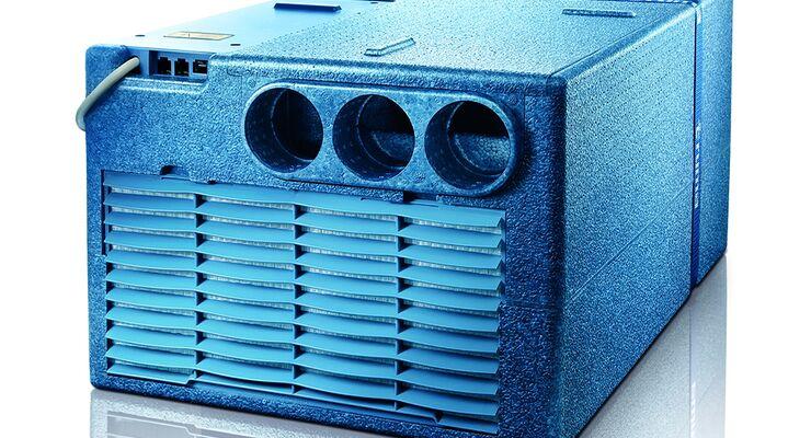 Truma bietet seine Staukastenklimaanlage Saphir comfort jetzt mit integrierter Wärmepumpe an.