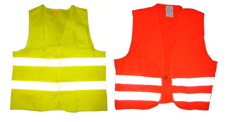 Warnweste gelb und orange