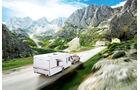 Winterfester Caravan mit wenigen und kleinen Fenstern wie beim Kabe Imperial