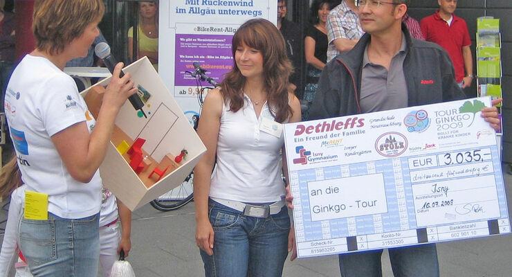 Wohnwagen Dethleffs Tour Ginkgo Christiane Eichenhofer Stiftung Klinikum Kempten Ruheraum Family Stiftung Campingplatz Grüntensee