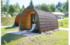 Wood Lounges auf dem Campingplatz