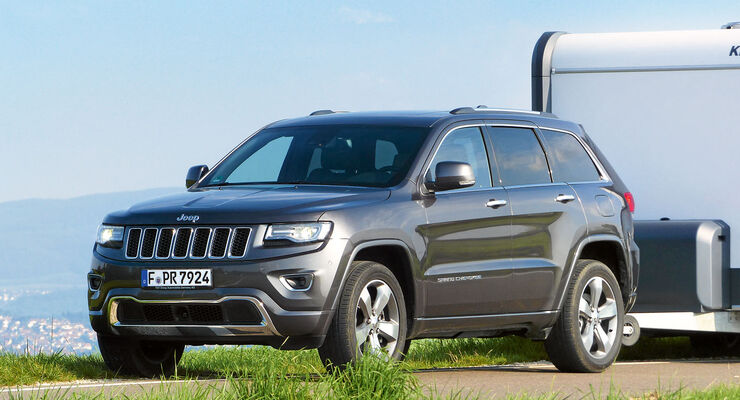 jeep grand cherokee im zugwagen test caravaning. Black Bedroom Furniture Sets. Home Design Ideas