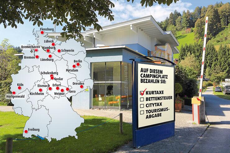 20 Staedte in Deutschland erheben derzeit Bettensteuer.