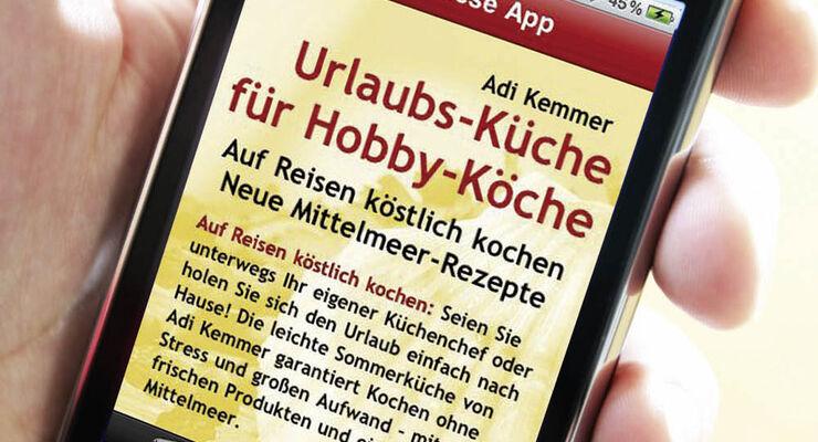 Apple iphone App promobil Urlaubsküche Kochbuch Koch-Rezepte