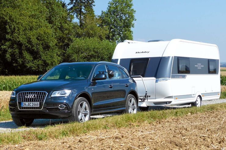 audi q5 3 0 tdi quattro im zugwagentest b renstarke sache caravaning. Black Bedroom Furniture Sets. Home Design Ideas