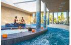 Bade- und Wellnesslandschaft auf dem Campingplatz La Marina in Spanien