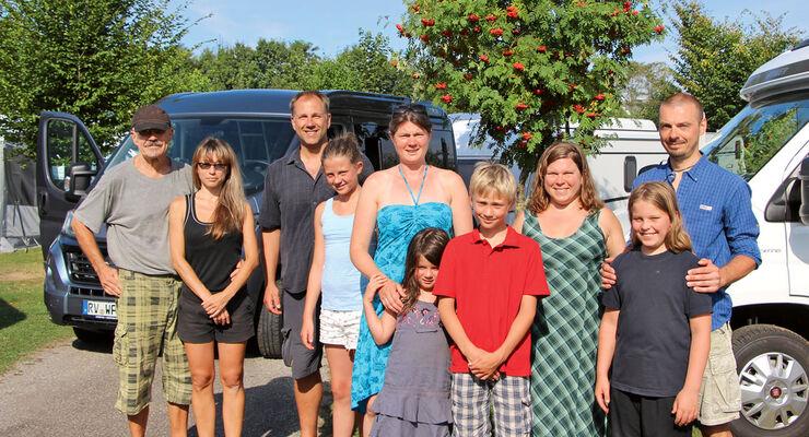 Camping-Traumtour-Gewinner auf dem Campingplatz Wirthshof