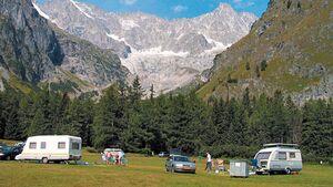 Camping des Glaciers in der Schweiz