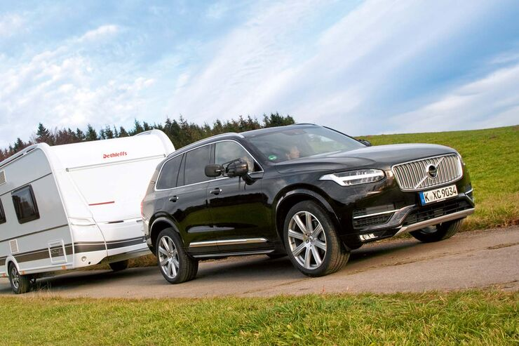 volvo xc90 d5 awd im zugwagen test schweden suv caravaning. Black Bedroom Furniture Sets. Home Design Ideas