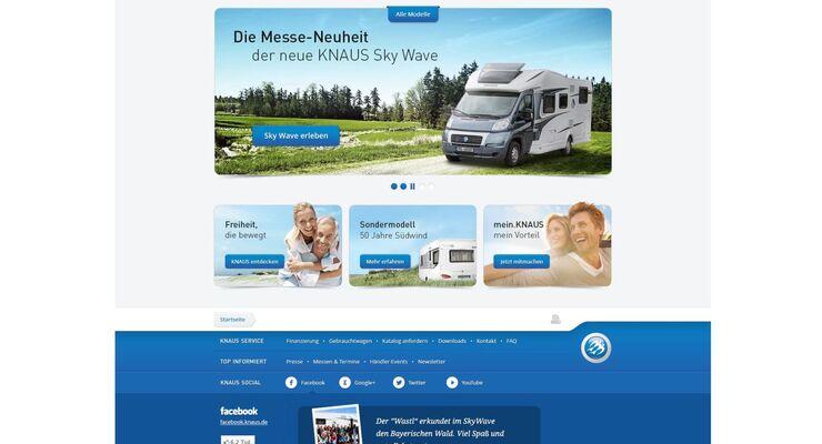 Knaus optimiert seine Webseite und macht sie benutzerfreundlicher. Dabei steht die Fahrzeugmodellsuche im Mittelpunkt.