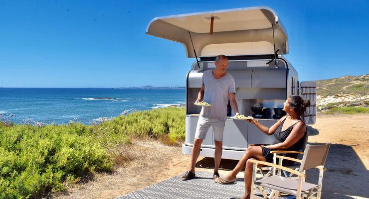 Dach Für Außenküche : Lume traveler kompakter wohnwagen mit cabrio dach caravaning