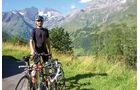 Radfahrer in den österreichischen Alpen