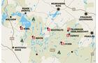 Reise: Mecklenburgische Seen, Karte