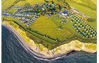 Shoreside Camping: nah an der Küste, Golfplatz nebenan.