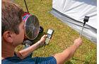 Test: Markisenvorzelte, Windgeschwindigkeitsmessgerät