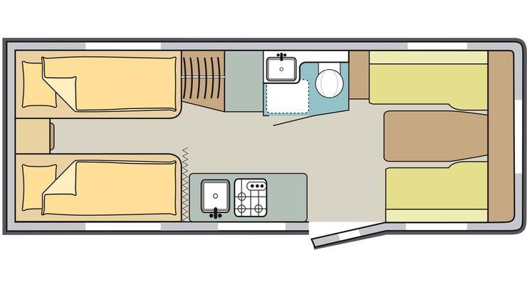 Vergleich Dethleffs vs. Knaus - Dethleffs Skizze Innenraum