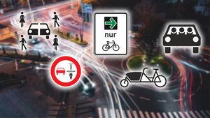 Verkehrszeichen Lastenfahrrad