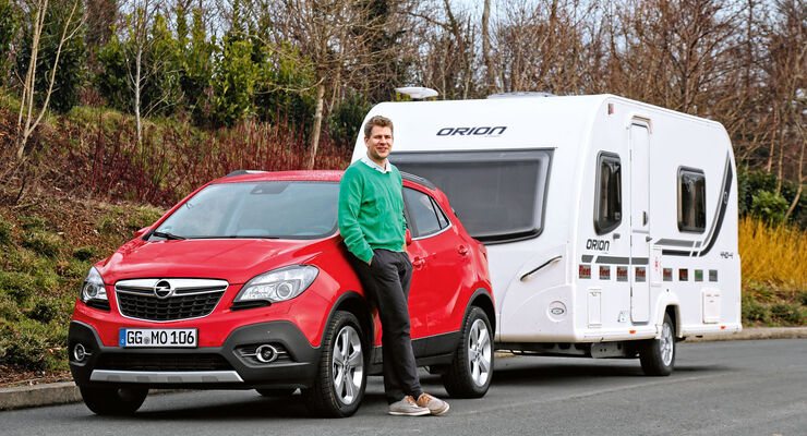der neue opel mokka im zugwagen test bei caravaning caravaning. Black Bedroom Furniture Sets. Home Design Ideas